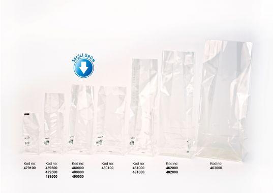 Avantaj Küçük Şeffaf Poşet-YEŞİL TABAN ETİKETLİ (500 Adetlik Kutu)