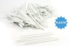 - Beyaz Plastik Kapama Klipsi - (12 cm - Plastik)