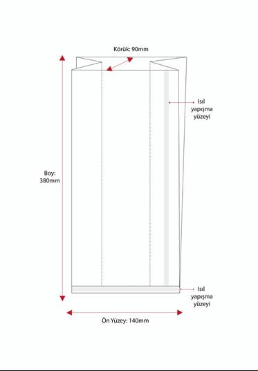 Battal Boy Düz Tabanlı Sıcak Yapıştırmalı 50 Mikron Poşet (1000 Adetlik Kutu)