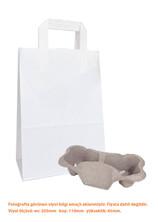 Dıştan Kulplu Beyaz Kağıt Çanta No.2 (500 Adetlik Paket) - Thumbnail