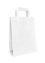 - Dıştan Kulplu Beyaz Kağıt Çanta No.2 (500 Adetlik Paket)