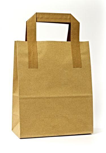Dıştan Kulplu Kraft Kağıt Çanta (50 Adetlik Kutu)