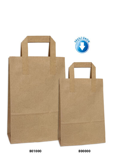 Dıştan Kulplu Kraft Kağıt Çanta No.1 (50 Adetlik Kutu)