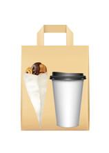 Dıştan Kulplu Kraft Kağıt Çanta No.1 (50 Adetlik Kutu) - Thumbnail