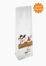 - Kardan Adam Etiketli Mini Şeffaf Poşet (100 Adetlik Kutu)
