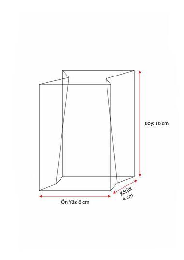 Kardan Adam Kırmızı Etiketli Mini Şeffaf Poşet (100 Adetlik Kutu)