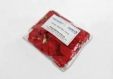 Kırmızı Küçük Boy Şeffaf Klipsli Kurdele (50 Adetlik Paket) - Thumbnail