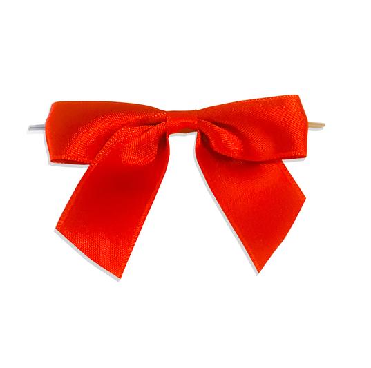 Kırmızı Küçük Boy Şeffaf Klipsli Kurdele (50 Adetlik Paket)
