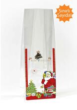 - Kırmızı Noel Baba Etiketli Mini Şeffaf Poşet (150 Adetlik Kutu)