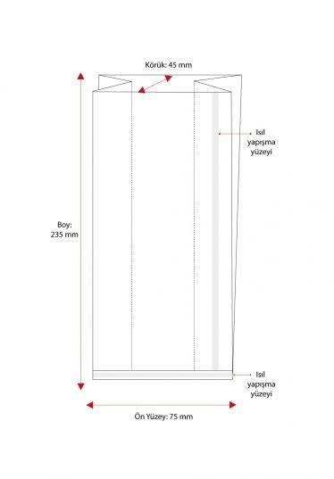 Küçük Boy Düz Tabanlı Sıcak Yapıştırmalı 50 Mikron Poşet (1000 Adetlik Kutu)