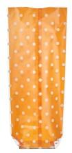 Küçük Boy Puantiye Turuncu Pencere Şeffaf Poşet (100 Adetlik Kutu) - Thumbnail