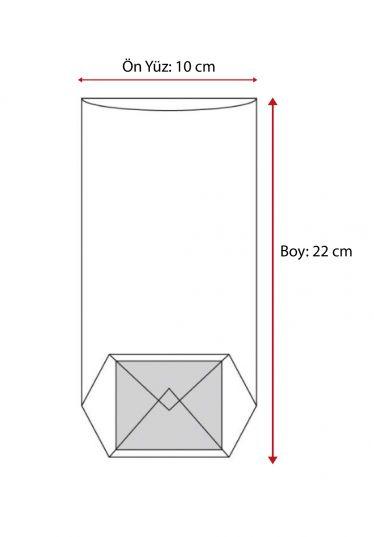 Küçük Dantel Kenar Şeffaf Poşet (500 Adetlik Kutu)