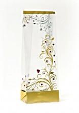 - Metalize Altın Aşk Çiçeği Küçük Şeffaf Poşet (50 Adetlik Kutu)