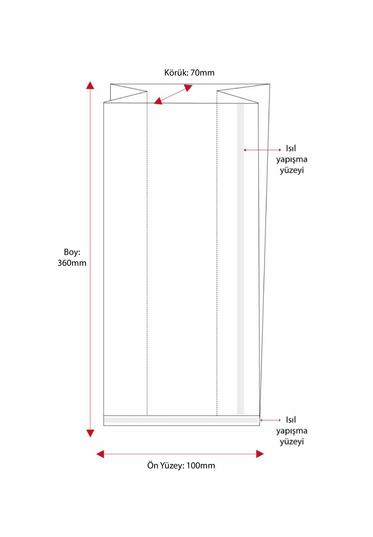 Büyük Boy Düz Tabanlı Sıcak Yapıştırmalı 40 Mikron Poşet (1000 Adetlik Kutu)