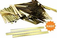 - Parlak Altın Kapama Klipsi (12 cm - Kağıt )
