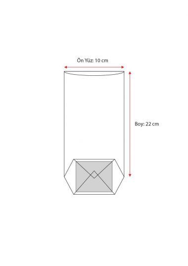 Turuncu Naturel Pencereli Küçük Şeffaf Poşet (500 Adetlik Kutu)