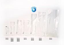 Baskısız Orta Şeffaf Poşet-BEYAZ TABAN ETİKETLİ (500 Adetlik Kutu) - Thumbnail