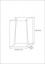 Kalın Krem Çizgili Küçük Boy Şeffaf Poşet (500 Adetlik Kutu) - Thumbnail