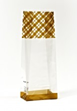 Altın Çizgi Küçük Şeffaf Poşet (500 Adetlik Kutu) - Thumbnail