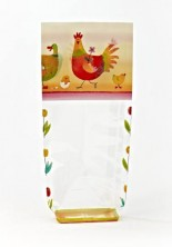 - Renkli Tavuk Şeffaf Poşet (100 Adetlik Kutu)
