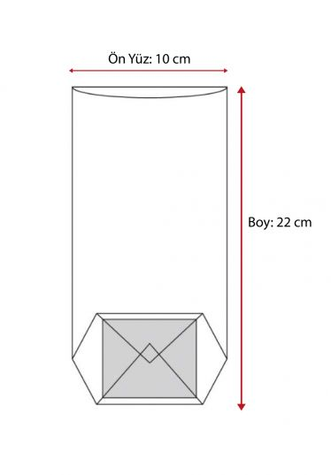 Paskalya Şeffaf Poşet (100 Adetlik Kutu)
