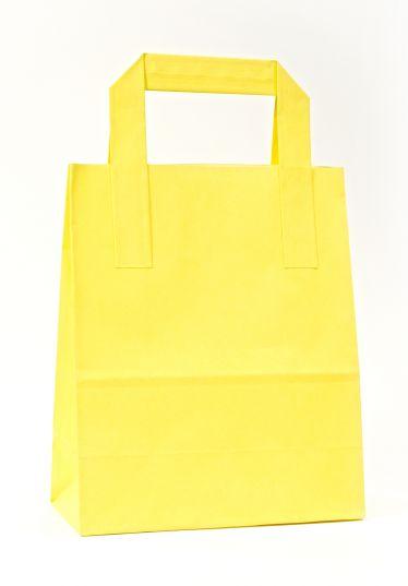 Dıştan Kulplu Sarı Kağıt Çanta (500 Adetlik Kutu)