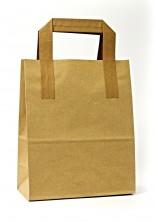 Dıştan Kulplu Kraft Kağıt Çanta (500 Adetlik Kutu) - Thumbnail