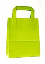 - Dıştan Kulplu Açık Yeşil Kağıt Çanta (500 Adetlik Kutu)