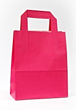 Dıştan Kulplu Fuşya Kağıt Çanta (500 Adetlik Kutu) - Thumbnail