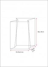 Baskısız Orta Şeffaf Poşet-FİLM TABAN ETİKETLİ (500 Adetlik Kutu) - Thumbnail