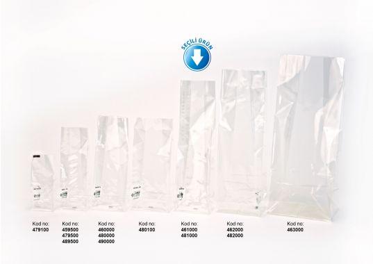 Baskısız Orta Şeffaf Poşet-FİLM TABAN ETİKETLİ (500 Adetlik Kutu)