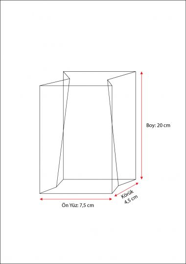 Baskısız Küçük Şeffaf Poşet-BEYAZ TABAN ETİKETLİ (500 Adetlik Kutu)