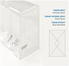 Baskısız Küçük Şeffaf Poşet-BEYAZ TABAN ETİKETLİ (500 Adetlik Kutu) - Thumbnail