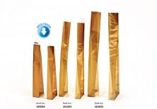 Kalın Altın Çizgili Küçük Şeffaf Poşet (100 Adetlik Kutu) - Thumbnail