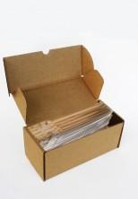 İnce Altın Küçük Şeffaf Poşet (100 Adetlik Kutu) - Thumbnail