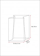 - Metalize Hediye Küçük Şeffaf Poşet (100 Adetlik Kutu) (1)