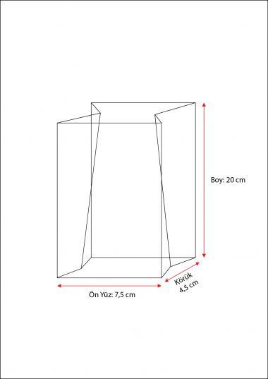 Metalize Hediye Küçük Şeffaf Poşet (100 Adetlik Kutu)