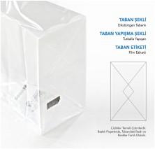 Metalize Hediye Küçük Şeffaf Poşet (100 Adetlik Kutu) - Thumbnail