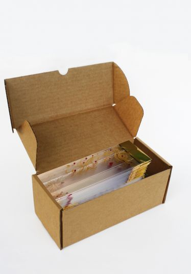 Metalize Altın Aşk Çiçeği Küçük Şeffaf Poşet (100 Adetlik Kutu)