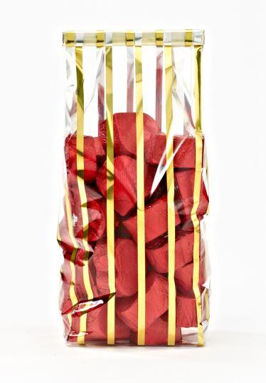 Metalize İnce Altın Küçük Şeffaf Poşet (100 Adetlik Kutu)