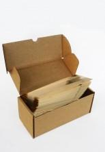 Kalın Krem Çizgili Küçük Boy Şeffaf Poşet (100 Adetlik Kutu) - Thumbnail