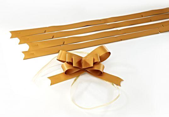 Mat Altın Küçük Boy Pratik Kurdele (50 Adetlik Paket)