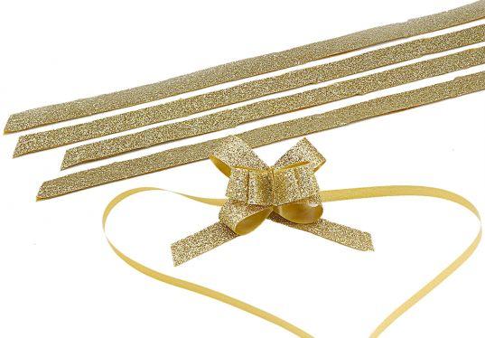 Simli Altın Büyük Boy Pratik Kurdele (30 Adetlik Paket)