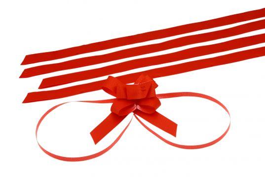 Kırmızı Orta Boy Pratik Kurdele (50 Adetlik Paket)