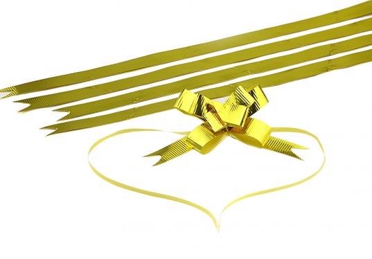 Parlak Altın Orta Boy Pratik Kurdele (50 Adetlik Paket)