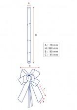 - Beyaz Altın Şerit Orta Boy Pratik Kurdele (100 Adetlik Paket) (1)