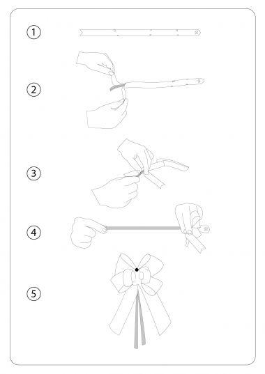 Beyaz Altın Şerit Orta Boy Pratik Kurdele (100 Adetlik Paket)