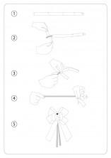 Kırmızı Altın Şerit Küçük Boy Pratik Kurdele (100 Adetlik Paket) - Thumbnail