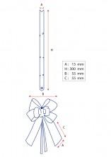 - Kırmızı Altın Şerit Küçük Boy Pratik Kurdele (100 Adetlik Paket) (1)