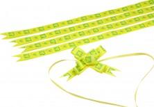 - Yeşil Sarı Kalpler Küçük Boy Pratik Kurdele (100 Adetlik Paket)
